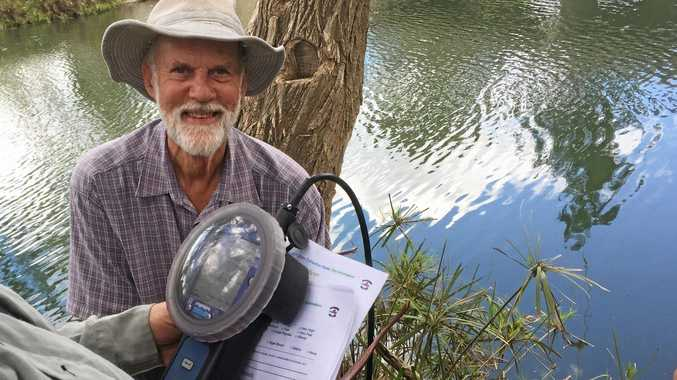 GET INVOLVED: Citizen scientist Neville Gersch helped collect and record data on Port Curtis Harbour Watch's most recent catchment crawl.