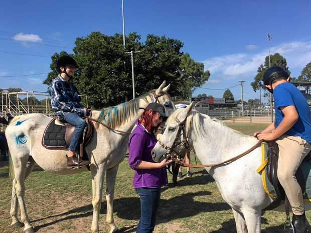SADDLING UP: Jenny Topp's children Connor and Lacey have developed confidence and a sense of respect through riding with the Warwick Pony Club.