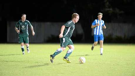 Frenchville skipper Tim Hickey in action against Frenchville on Saturday night.