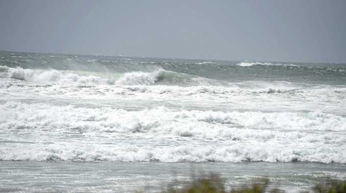 Hazardous beach conditions at Seven Mile Beach at Lennox Head.