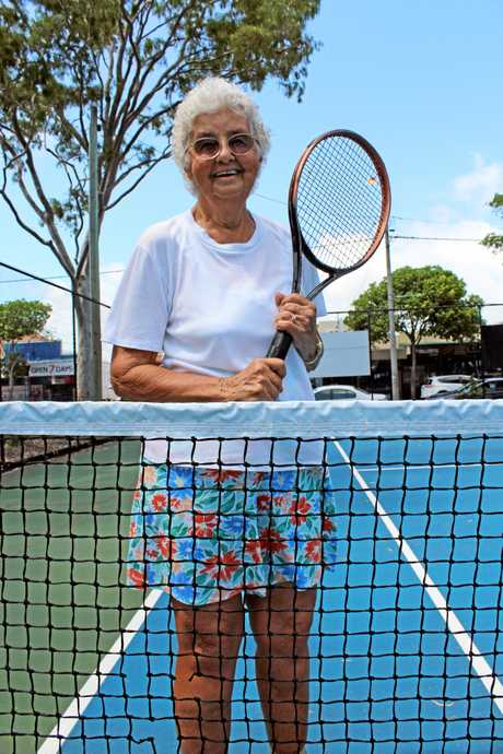 Elsie Whitaker 84, has played on the Torquay tennis court for about 50 years.