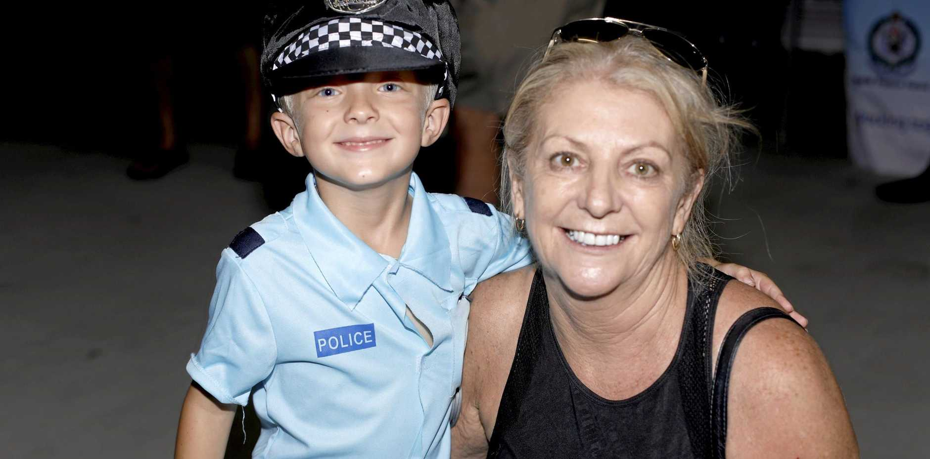 William Renwick, 5, from Banora Point with his nan Vicki Barber at the Tweed Heads Police Station Open Day on Sunday, February 18.