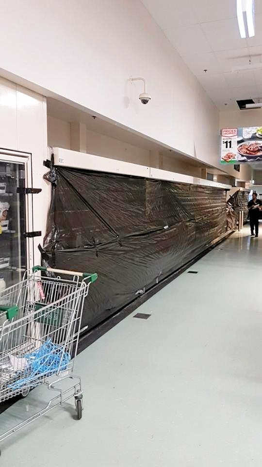 Woolworths in Cannonvale is still open but has closed it's refridgerated section .