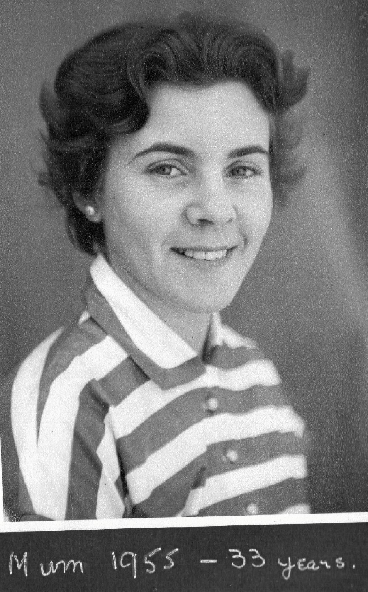 Eileen in 1955, aged 33.