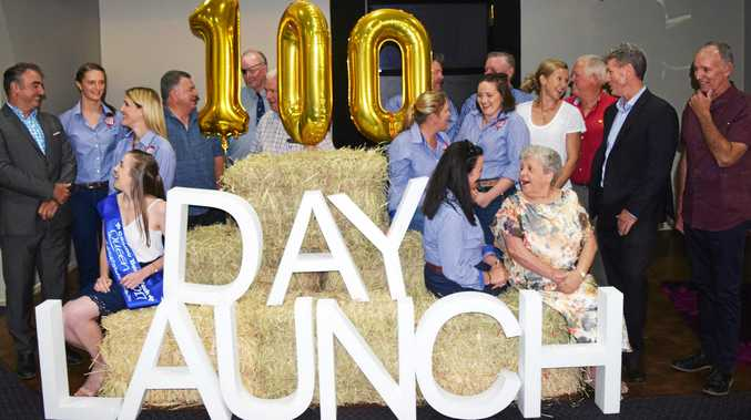 HERE IT COMES: 100 days until Casino's big event, Beef Week, committee members, sponsors and others celebrate at the Casino RSM Club.