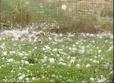 Large hail was reported north of Clermont this afternoon.