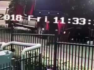 Truckie's meltdown caught on camera