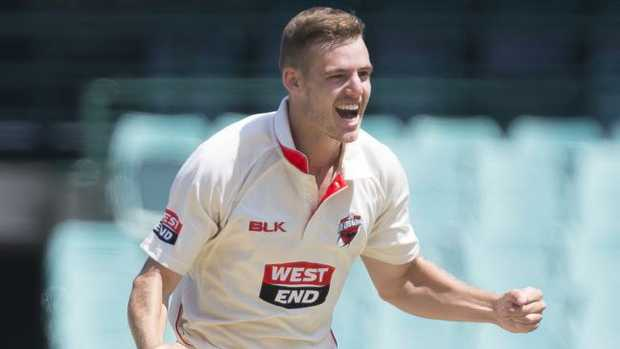 Nick Winter has taken 15 wickets in his first two Sheffield Shield matches.
