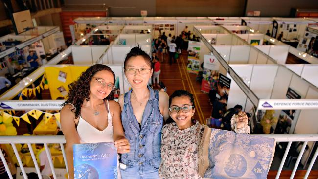 Students in Queensland are now in week 1 of classes at university while those down south in NSW are in the midst of O Week including Clarice Campos, 34, studying a Masters of Accounting, Xi Chen, 29, studying a Master of Accounting, and Mahreen Othai, 19 studying a Bachelor of Accounting.