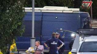 Detectives at the scene. Picture: Gary Ramage