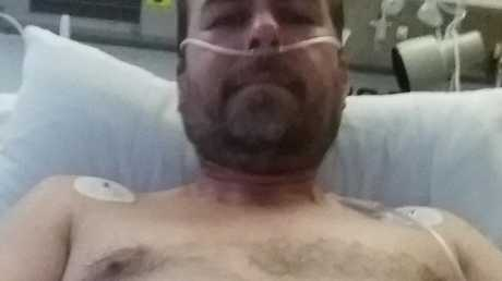 Paul Denys now has a major scar and said anyone who finds themselves in such a situation should speak to someone they trust for help. Picture: Paul Denys