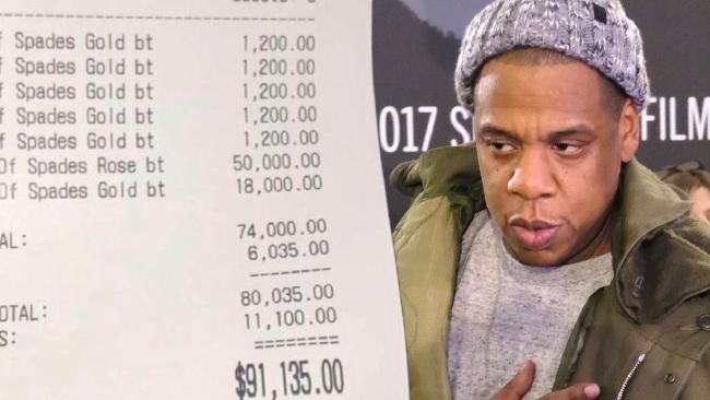 Jay-Z racks up $91135 bar tab, leaves $11G tip