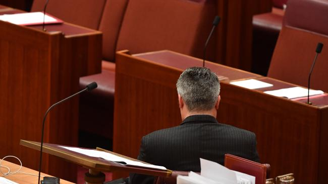 It's lonely at the top ... Senator Mathias Cormann will be Acting Prime Minister while Deputy PM Barnaby Joyce is on personal leave. Picture: AAP Image/Mick Tsikas Nationals Minister cagey on leadership talk