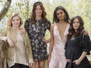 Ruby Rees, Lily Sullivan, Madeleine Madden and Yael Stone star in the series. Picture: Jason Edwards