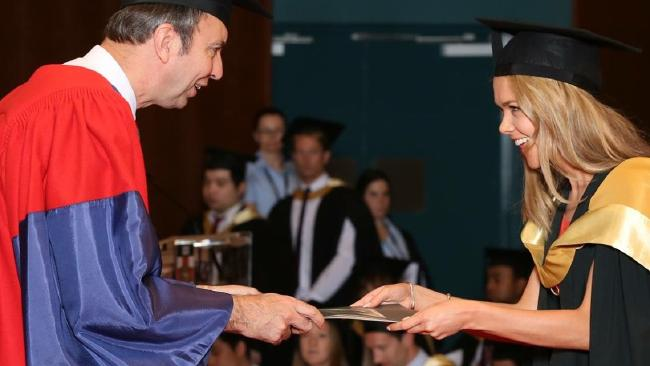 Jacqueline receiving her degree in Psychology. Picture: Supplied