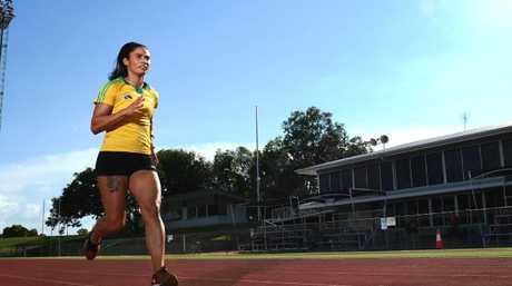 Sprinter Jessica Peris on the track
