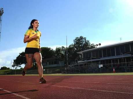 Sprinter Jessica Peris on the track