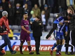 Aguero punches fan after City defeat