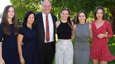 My Joyce pictured in happier times with wife Natalie and daughters (from left to right) Odette, Caroline, Julia, and Bridgette Picture: Facebook