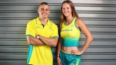 Riley Day with Commonwealth Games teammate Trae Williams Picture: Nigel Hallett