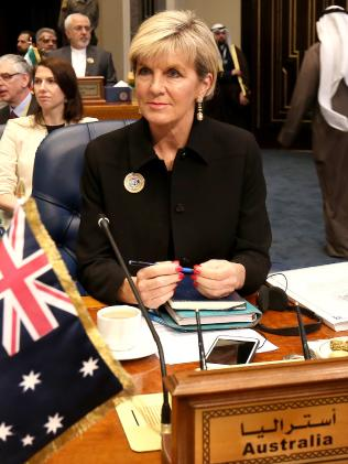 Foreign Minister Julie Bishop is overseas until February 23. Picture: AFP/Yasser Al-Zayyat