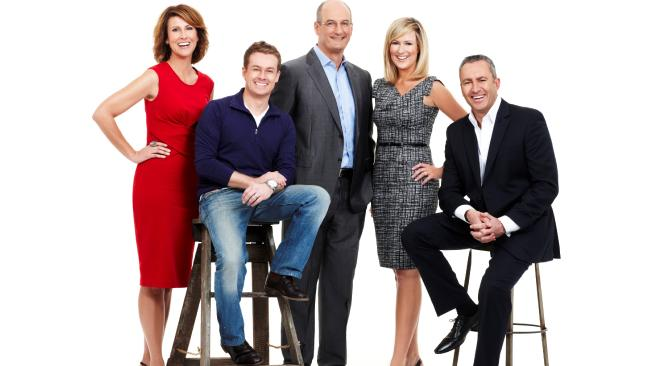 Natalie Barr, Grant Denyer, David Koch, Melissa Doyle and Mark Beretta