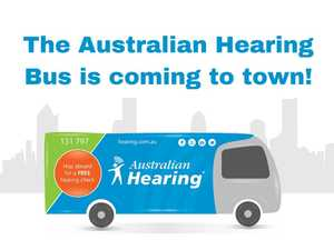 The Australian Hearing bus is coming to Tewantin Noosa RSL. Hop aboard for a FREE hearing check or speak to an expert about your current hearing device.