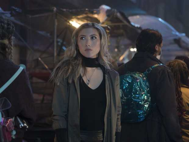 Australian Dichen Lachman in a scene from the TV series Altered Carbon.