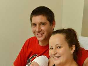 Babies at Ipswich Hospital. Baby Jason Edgell with