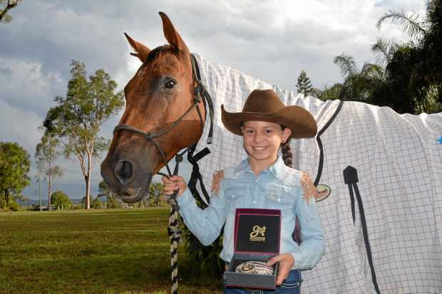 POCKET ROCKET: 10-year-old Montana Dunn, with horse Candee, will compete at the NBHA Youth World Championships.