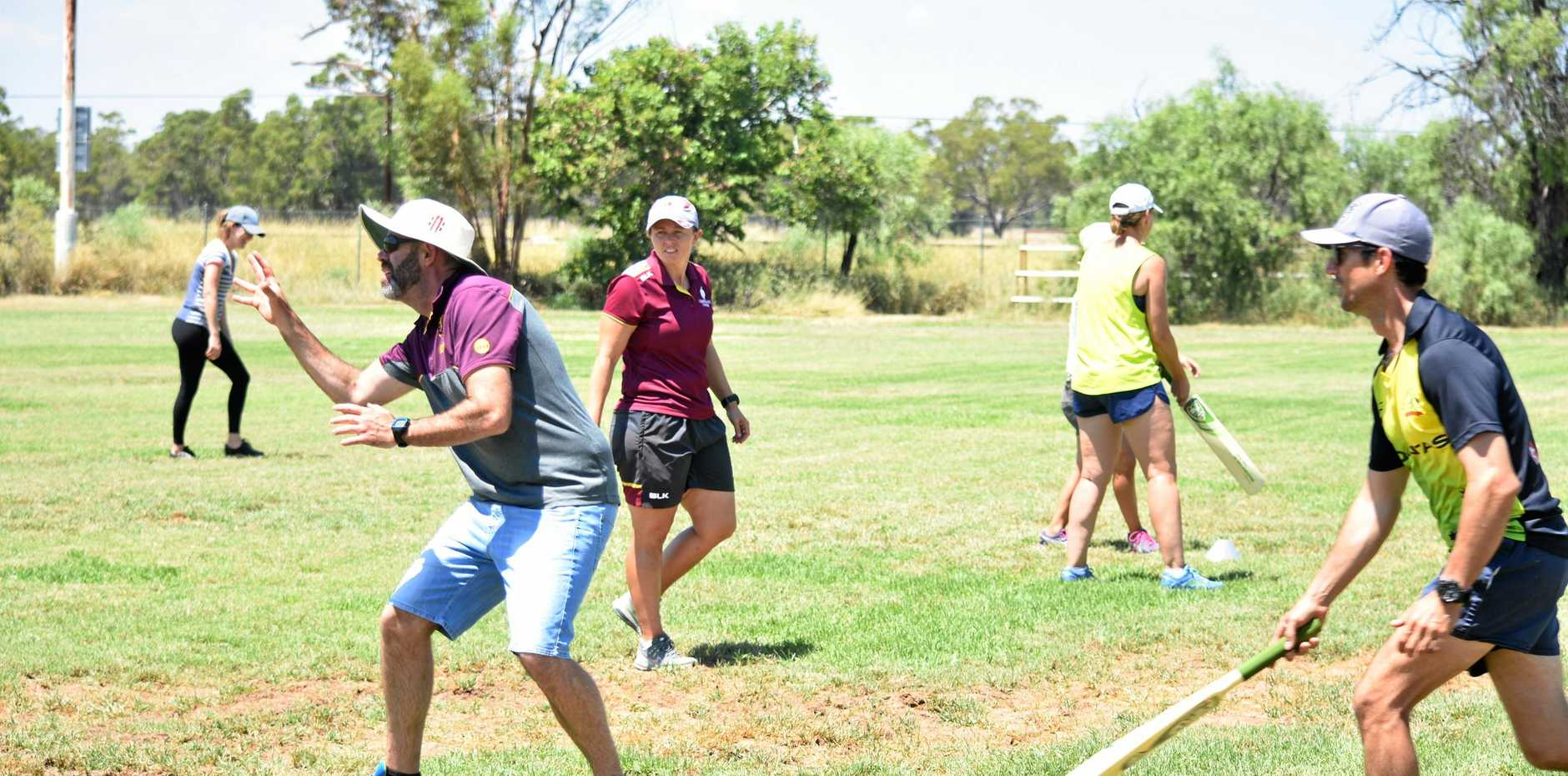 TEEING OFF: The free coaching clinic attracted a   range of people.