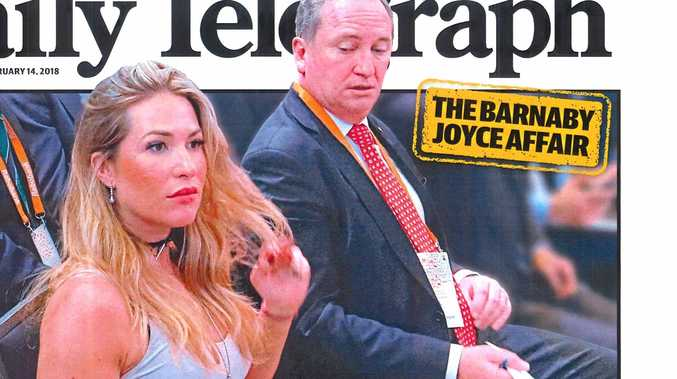 CANDID: Barnaby Joyce caught eyeing off former staffer and current partner Vikki Campion back at a summit in 2016.