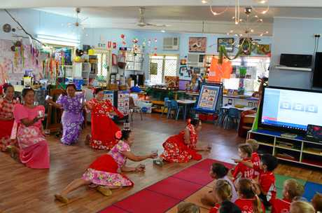 FUN LEARNING: The Dalby Filipino Community engaged children at Beck St Kindergarten in some traditional dance.