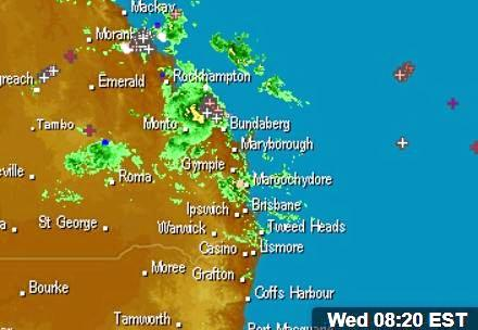 WEATHER: THE current weather system along the Queensland coast is tracking south toward Seventeen Seventy.