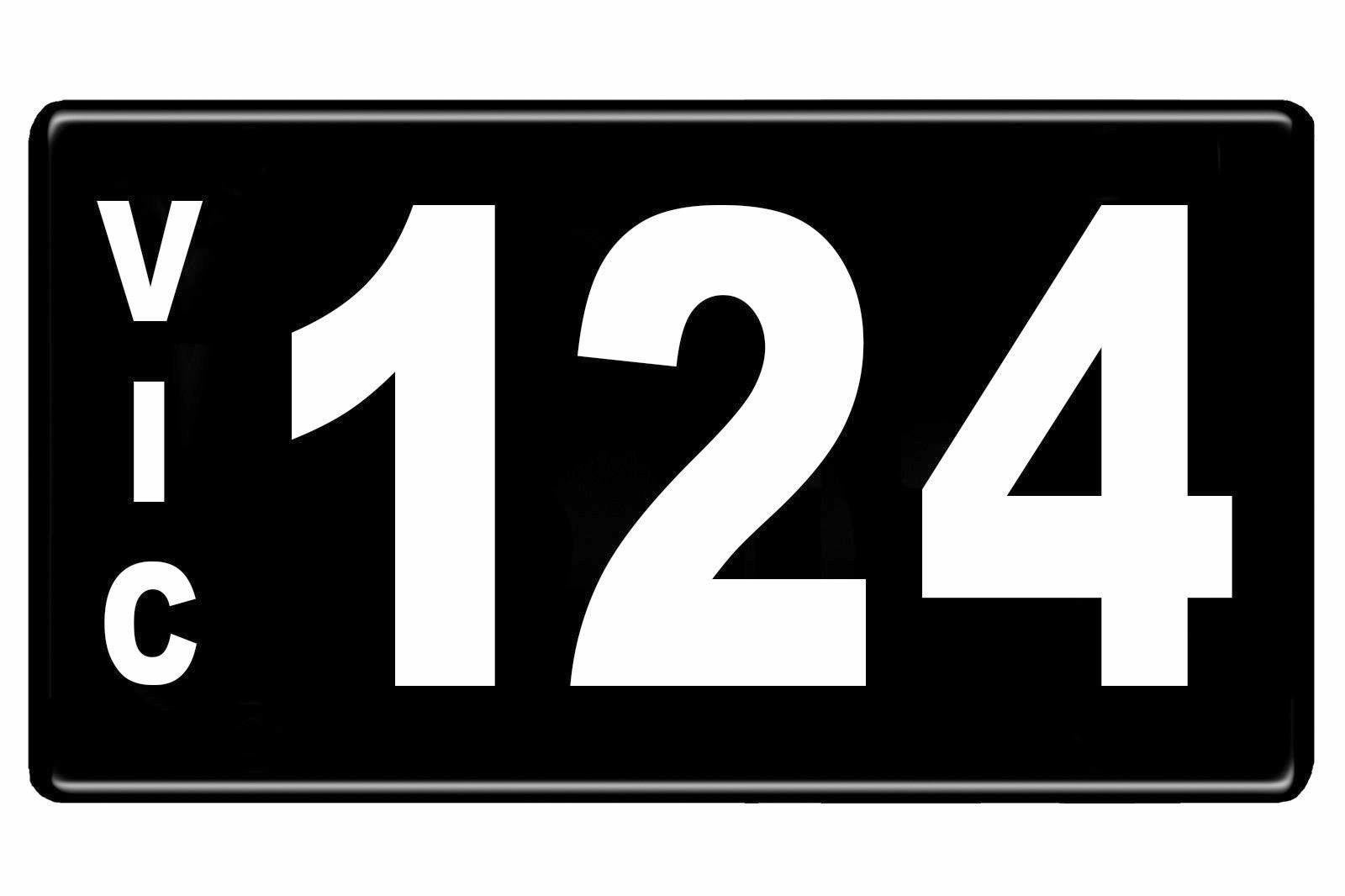 $268,000 was paid for the early Victorian-issued plate '124'.