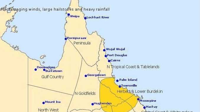 The Bureau of Meteorology has released a thunderstorm warning regarding Queensland's current storm activity.