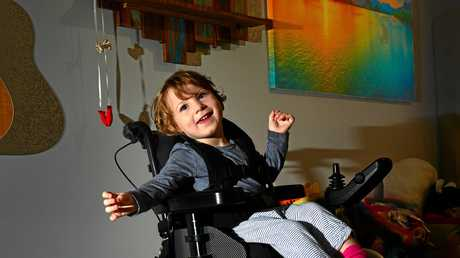 Issy Taylor, 3 with her Mum Lauren Taylor are in need of a wheelcahir car to help make life more bearable.