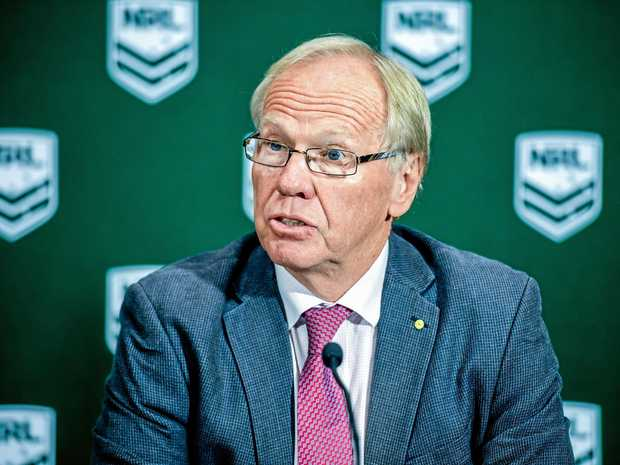 Peter Beattie at the ARLC annual general meeting in Sydney.