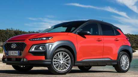 Hyundai is seriously considering selling an electric version of the Kona SUV in Australia. Pic: Supplied.