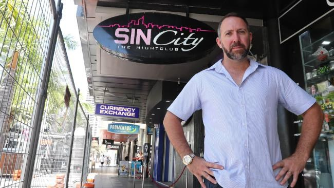 Surfers Paradise Licensed Venues Association president Tim Martin says on behalf of all party precinct bar bosses he plans to push for the justice system to dish out tougher sentencing to coward punchers and party precinct violent offenders. Picture: Richard Gosling