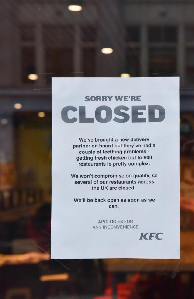 Restaurants have been force to close after they were left without any stock.