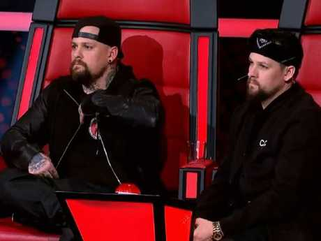 Joel and Benji Madden during their stint on The Voice. Picture: Channel 9