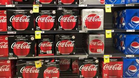 In Woolworths, Coke Zero and Diet Coke outnumbered Coke No Sugar.