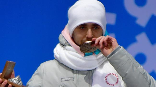 Aleksandr Krushelnitckii won bronze in the mixed curling.