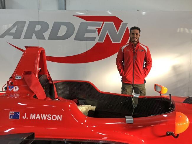 Joey Mawson poses with his car this season.