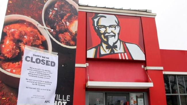 KFC has now opened 450 restaurants but some are operating limited hours. Picture: Barcroft KFC closes most UK outlets over chicken shortage