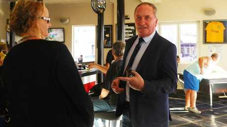 Mr Joyce arrives at the Nationals Party NSW branch general meeting in Armidale on Wednesday evening. Picture: Hollie Adams/The Australian