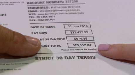 Bunnings is demanding payment of the bill.