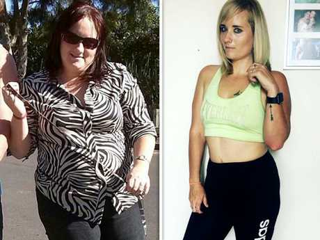 Ali Richards, before and after. Picture: Caters