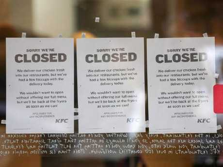 Hundreds of KFC outlets in United Kingdom closed amid chicken shortage
